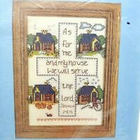 Counted Cross Stitch Kit We Will Serve the Lord  Joshua 24:15 5x7 inch 5097