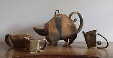 BRUTALIST ART POTTERY TEA SET