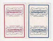 2 single bridge playing cards, collect/swap jokers, American Hail Management Inc