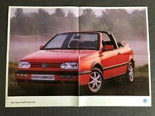 VW VOLKSWAGEN GOLF CABRIO Cabriolet III 3 Prospekt Brochure 1993 58