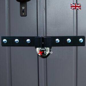 Shed Garage door security hasp lock, padlock protection unlike hasp and staple.