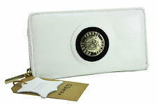 Portefeuille Cuir Noir Portafoglio Bianco Leather Wallet White Geldbörsen Weiß