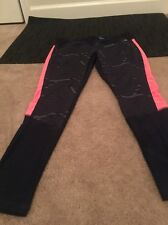 AVIA Womens Pants Exercise Workout Yoga Leggings Clothes Sz L Multicolor Pants