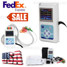 3 leads 24Hours Records ECG Holter+PC software Dynamic ECG Systems USA fedex