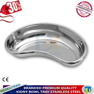 Kidney Bowl Tray Basin Stainless Steel Dental Surgical Laboratory Professional