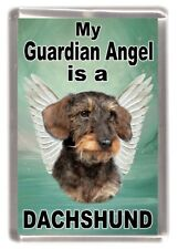 "Dachshund Wire Dog Fridge Magnet ""My Guardian Angel is a DACHSHUND"" by Starprint"