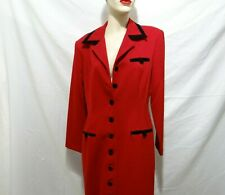 Jessica Howard Formal Wear long Red Dress / Coat Polyester/Cotton Size 12 - Exc!