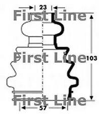 Unten, Antriebswelle First Line FCB2803
