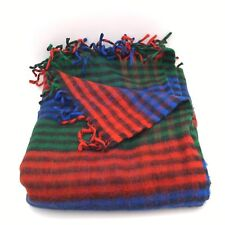 "Blue/Red/Green Plaid Blanket Throw Stadium Blanket Acrylic? 50""x 66"" - Unused"