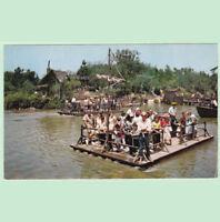 Disney Unused Postcard Huck Finn Rafts Frontierland C-15 1950s  Disneyland