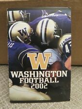 PAIR of UNIVERSITY OF WASHINGTON 2002 FOOTBALL  POCKET SCHEDULES