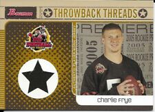 2005 Bowman Throwback Threads - Charlie Frye - Game Used Jersey - #BRT-CFR