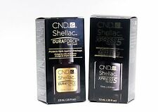 CND Shellac Nail Gel DURAFORCE TOP COAT + XPRESS5 TOP COAT .25oz/7.3ml ~ 2ct~