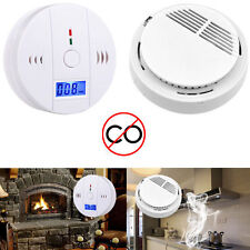 LCD CO Carbon Monoxide Poisoning Gas Warning Sensor Alarm Detector Safety Device