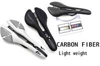 EC90 BICYCLE ROAD MTB BIKE CARBON FIBER SADDLE + LEATHER APPROX 113-125g