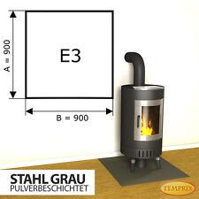 Kaminbodenplatte ✔ Funkenschutz Ofenplatte ✔ Ofen Kaminofenplatte Stahl grau E3