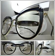CLASSIC VINTAGE RETRO CAT EYE Style Clear Lens EYE GLASSES Unique Fashion Frame