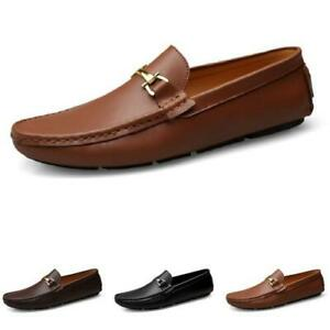 Mens Faux Leather Driving Moccasins Shoes Pumps Slip on Loafers Flats Walking L
