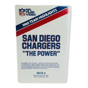 """NFL Films video 1980 Team Highlights San Diego Chargers """"The Power"""" Beta II VHS"""