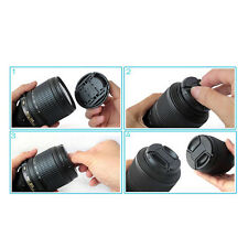 Durable 52 mm Front Lens Cap Center Snap on Lens cap for Nikon+Leash ESCA
