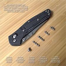 Benchmade 940-2 Osborne Knife 16 PC Custom Natural RAW Titanium Screw Pivot Set