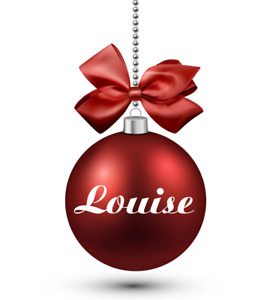Set of 2 Personalised Name Decals Vinyl Stickers Christmas Bauble Decoration