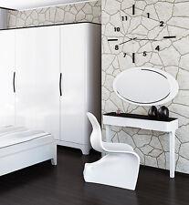 Schminkplatz Schminktisch Kosmetiktisch 76cm schwarz / weiß Hochglanz 6553