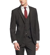Kenneth Cole Unlisted Men's Black Shadow Stripe 46L Slim Fit Suit Jacket Blazer