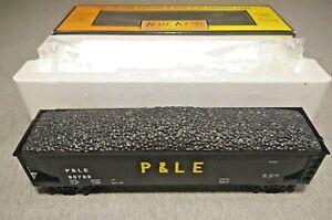 MTH O Scale Pittsburg & Lake Erie 4-Bay Hopper w/ Coal Load #30-75322 ~ TS