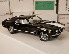 #0871/1000 Black/White 1970 Mustang Mach 1 Dad's Cat's Franklin Mint 1:24