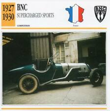 1927-1930 BNC Supercharged Sports Racing Classic Car Photo/Info Maxi Card