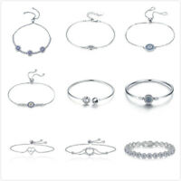 Bamoer Fine S925 Sterling silver Bracelet Chain Charm bracelet For Women Jewelry