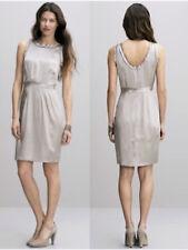 b19e3415e72ba8  150 Banana Republic Silk Raw Edge Pleat Mineral Grey Shift Dress