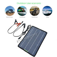 10Watts Portable Solar Panel Battery Charger for 12V Camping Emergency situation