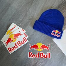 RED BULL ATHLETE ONLY BEANIE BUNDLE - STICKER - ROYAL BLUE - WINTER - HAT