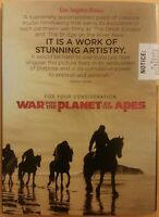 War For The Planet Of The Apes FYC DVD Awards Screener SCARCE VG free shipping