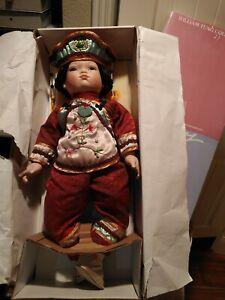 "RARE 1996  William Tung Chinese PON PON Porcelain 22"" Doll, Original Box"