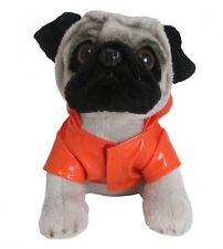 Doug the Pug wearing Rain Coat - Brand New Plush / Teddy H14.5cm