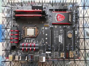 MSI Z97 GAMING 5 MOTHERBOARD, I7 4790K PROCESSOR & 16GB VENGEANCE RAM