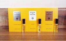 3 X ACQUA Di Parma Colonia ASSOLUTA & INTENSA EDC Unisex Sample Vial Spray