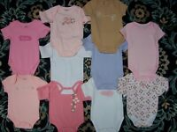 Calvin Klein Bodysuit 1pc Baby Girl 0-3 3-6 6-9 Mos New Assorted