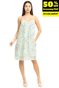 RRP €210 TWIN-SET SIMONA BARBIERI LINGERIE Sundress Size S Floral Lace Trim