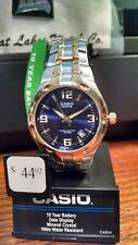 Casio Edifice Men's Quartz Blue Dial Two-Tone Bracelet 37mm Watch EF106SG-2AV