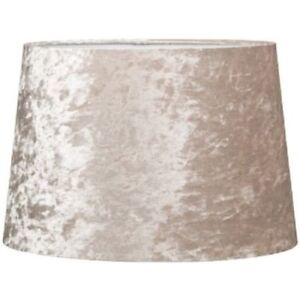 """Luxe Crushed Velvet Effect Dual Purpose Lampshade Lightshade Shade Champagne 11"""""""