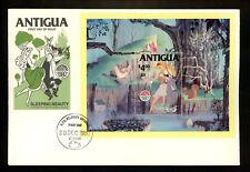 Disney FDC Antigua #601 S/S Christmas 1980 Sleeping Beauty animals