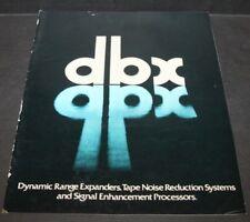 Vintage DBX 178100M-600073 Complete Lineup Catalog 118 3BX 122 124 128 12 pages