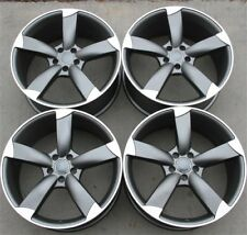 "SET(4) RS TYPE 20"" 20X9 5X112 WHEELS RIMS FIT AUDI A8 A4 S4 A5 A7 A6 Q5 RS4 RS6"