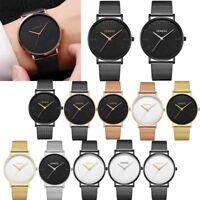 Unisex Casual Luxury Women's Men Stainless Steel Band Quartz Analog Wrist Watch