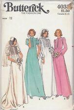 Vintage Bridal Gown Wedding Dress Sewing Pattern B4035 Size 12