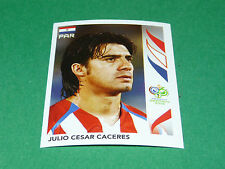 115 JULIO CESAR CACERES PARAGUAY PANINI FOOTBALL GERMANY 2006 WM FIFA WORLD CUP